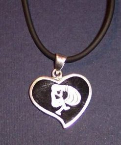 Pandantiv din argint pe snur negru - Varsator