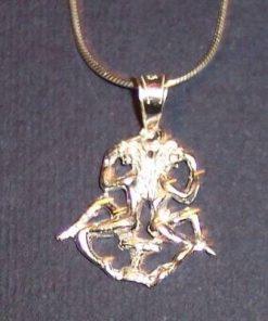 Pandantiv din argint pe lant din argint - Gemeni