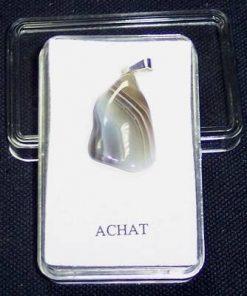 Pandantiv unisex din agat cu agatatoare din argint