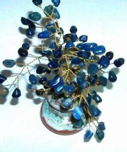 Copac cu cristale de agat pe suport din ceramica
