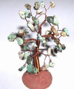 Copacel cu cristale de amazonit pe suport