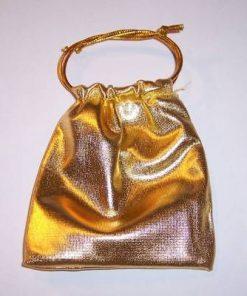 Saculet auriu cu siret pentru inchidere