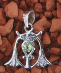 Pandantiv din argint cu topaz - Cheia Intelepciunii