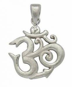 Simbolul Om/Tao din argint mat - unisex