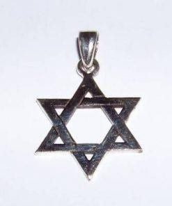 Pandantiv unisex din argint - Steaua lui David - medie