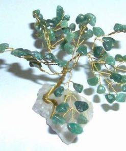 Copacel cu cristale de aventurin pe suport din cristal