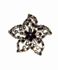 Brosa cu cristale negre - Floarea Succesului Profesional