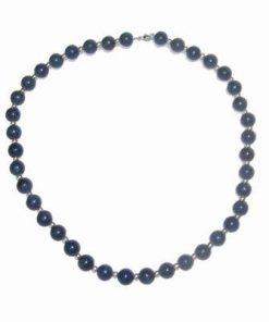 Colier din Lapis Lazuli cu sfere arginti