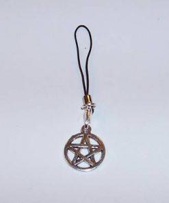 Canaf pentru telefon cu pentagrama din metal nobil