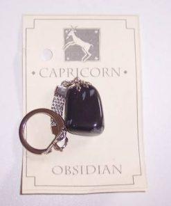 Breloc din obsidian