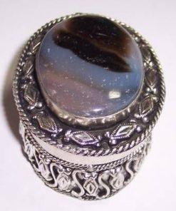 Casetuta argintie cu cristal de jasp - model unicat !