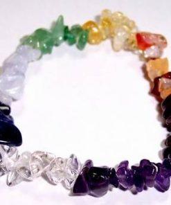 Bratara din cristale multicolore cu cele 7 chakre