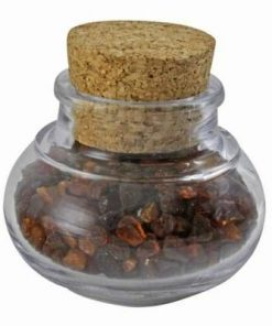 Borcanel cu cristale de chihlimbar