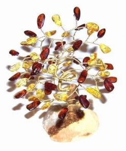 Copacel cu cristale de chihlimbar - model deosebit !