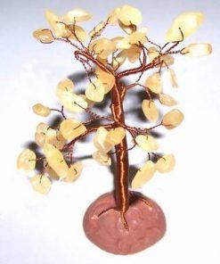 Copacel cu cristale de calcit pe suport