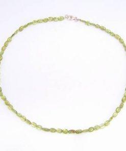 Colier din cristale de olivina, cu inchizatoare din argint