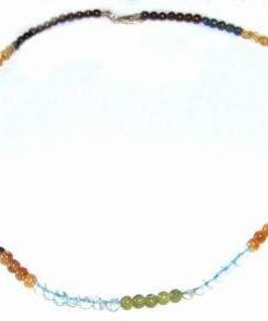 Colier din cristale mixte, cu inchizatoare din argint