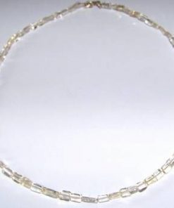 Colier din citrin, cu inchizatoare din argint