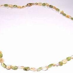 Colier din citrin si olivina - model deosebit !