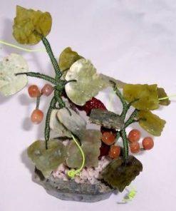 Copacel Feng Shui cu cristale de calcedonie