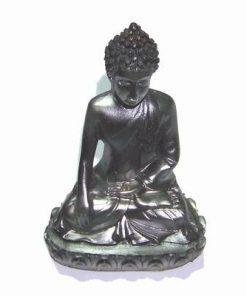 Buddha Milostivul de culoare neagra din rasina