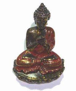 Buddha Milostivul de culoare auriu cu rosu