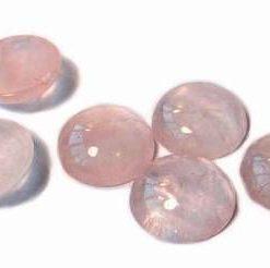 Cristal de cuart roz pentru bijuterii