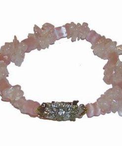 Bratara din cristale de cuart roz