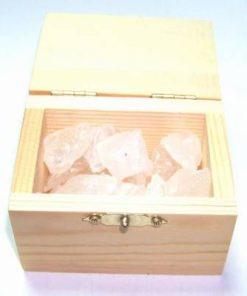 Cufar din lemn cu cristale in forma bruta - CRISTAL STANCA