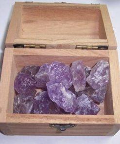 Cufarul cu cristale de ametist in forma bruta - model unicat