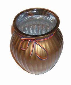 Vaza aurie cu tricolor