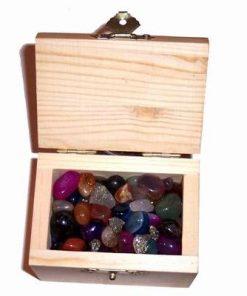 Cufar din lemn cu cristale mix