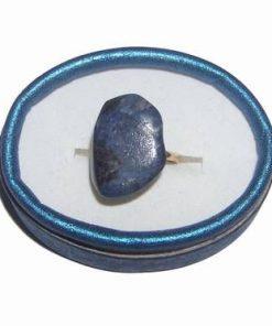 Inel reglabil din metal nobil cu cristal de dumortierit