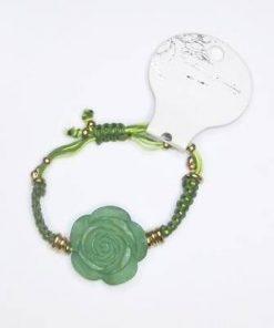 Bratara cu trandafir verde