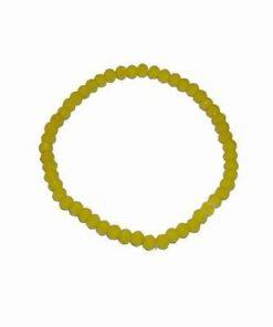 Bratara pe elastic cu cristale multifatetate - galbena