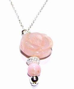 Pandantiv fantezie din cristale de opal roz - model unicat!
