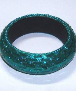Bratara verde-turcuaz pentru bogatie si noroc