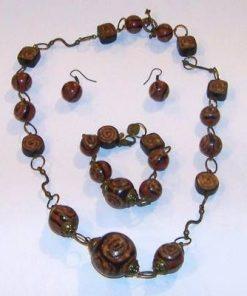 Set din lemn cu spirala Reiki