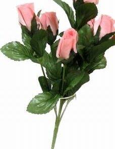 Buchet de 7 trandafiri roz, pe o singura tulpina