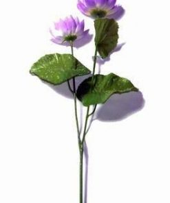 Floare de Lotus mov - 50 cm