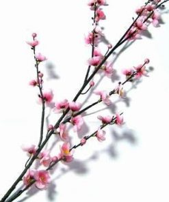 Crenguta cu flori de mar roz - 120 cm