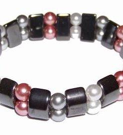 Bratara din hematit cu perle, pe elastic