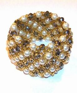 Bratara elastica, cu perle si hematit multifatetat