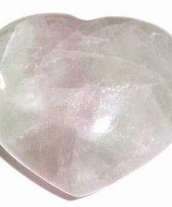 Inima din cristal de fluorit - model unicat!