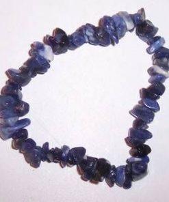 Bratara din lapis lazuli, pe elastic, piatra mica