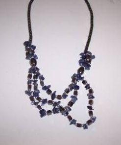 Colier din lapis lazuli si hematit -model deosebit !