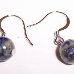 Cercei din lapis lazuli -  model deosebit !