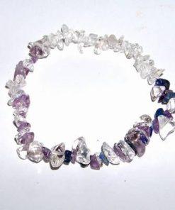 Bratara pe elastic cu cristale de lapislazuli