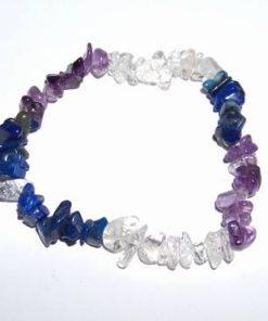 Bratara din cristale de lapis lazuli, ametist
