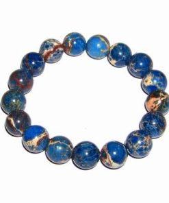 Bratara din sfere de lapis lazuli pe elastic